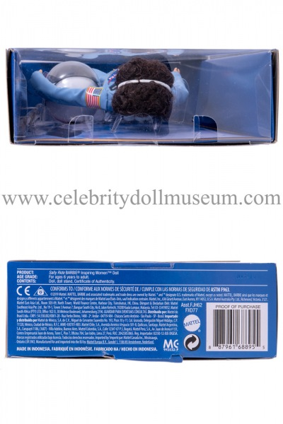 Sally Ride doll box top and bottom
