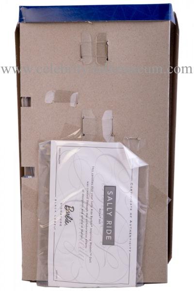 Sally Ride doll box insert back