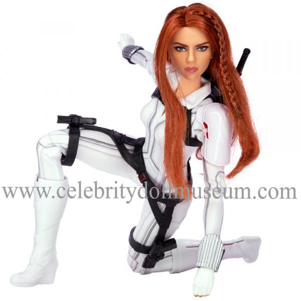 Scarlett Johansson doll Black Widow pose