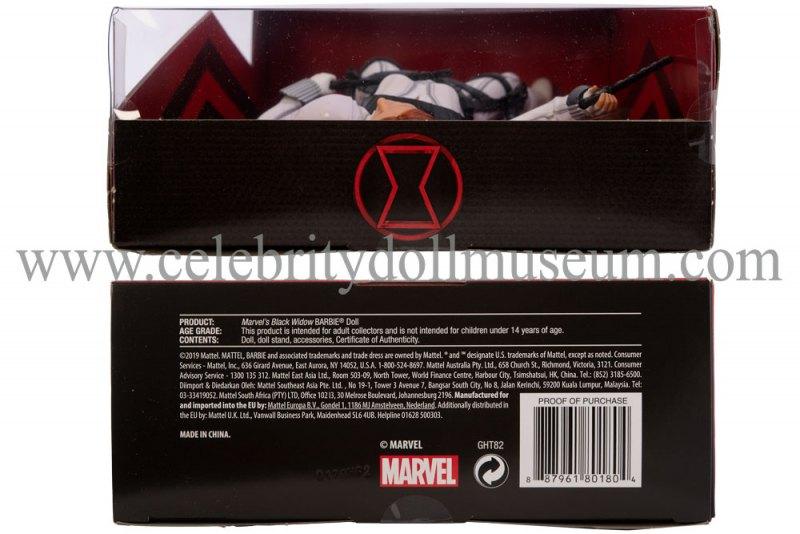 Scarlett Johansson doll box top and bottom
