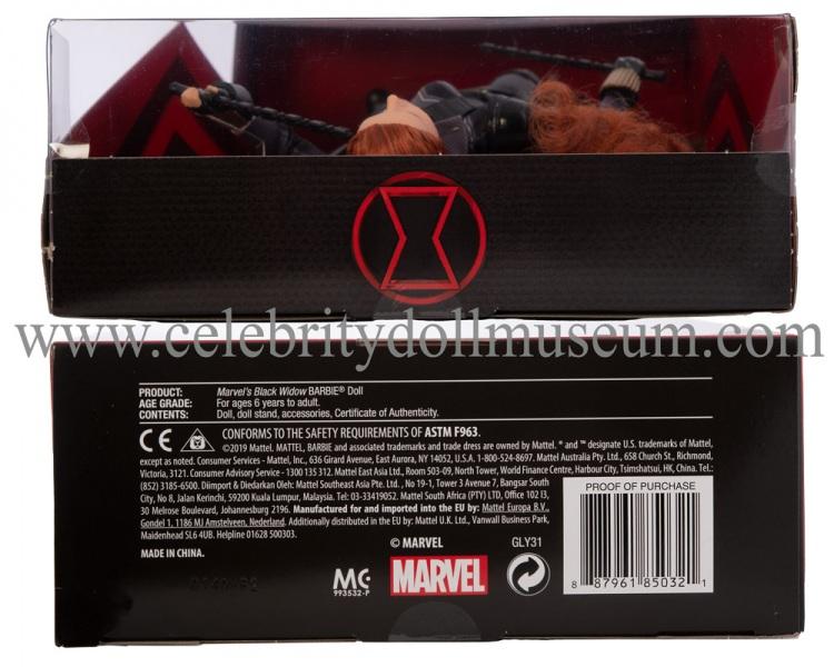 Scarlett Johansson doll (Amazon edition) box top and bottom