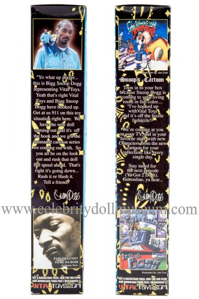 Snoop Dogg doll box sides