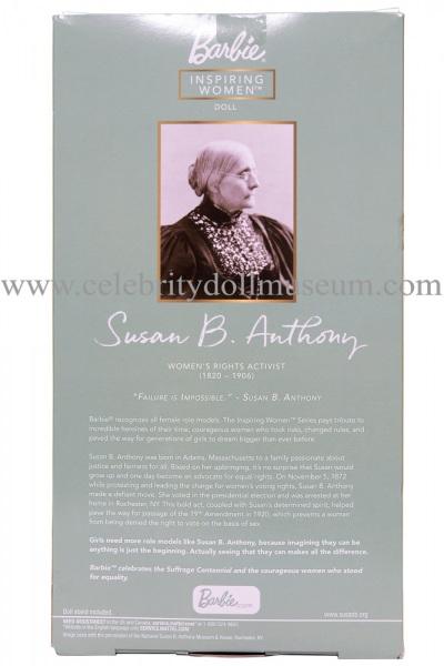 Susan B Anthony doll box back