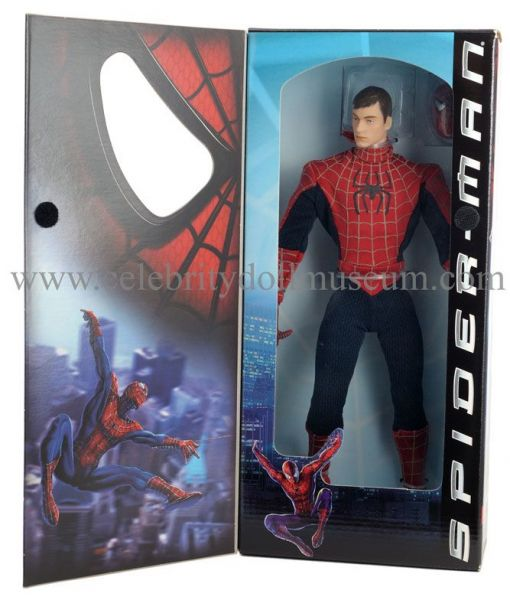 Tobey Maguire doll box open